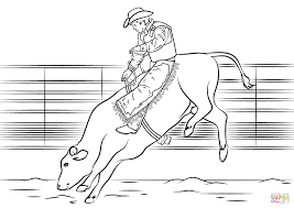 Small Picture Bull Riding coloring page Free Printable Coloring Pages