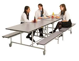 school dining room tables. Beautiful Tables Rectangular Mobile Folding Bench Bench Dining  Throughout School Room Tables I