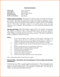 6 Air Conditioning Technician Resume Samples Resume Cover Note