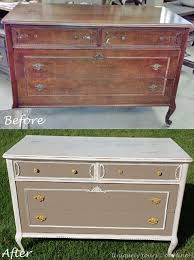 chalk paint furniture before and afterOld White chalk paint