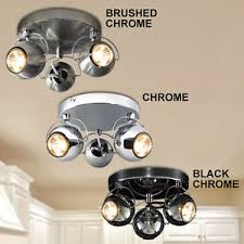 Adjustable light fixture Stainless Steel Image Is Loading Retroledeyeball3wayadjustableceilingspotlight Ebay Retro Led Eyeball Way Adjustable Ceiling Spotlight Light Fixture