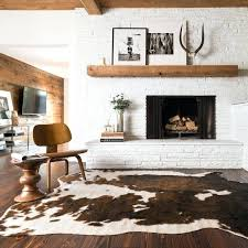 large faux cowhide rug cow