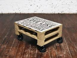 Wood Pallet Coffee Table With Wheels Homedit Contributing Article Pallet Coffee Table On Wheels