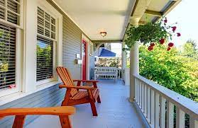 difference between porch patio deck