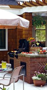 Outdoor Barbeque Designs Brick Outdoor Barbeque With A Built In Sink In 2019 Barbeque