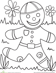 Small Picture Color the Gingerbread Man Gingerbread man Story time and Worksheets