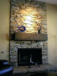 how to install stacked stone fireplace brick
