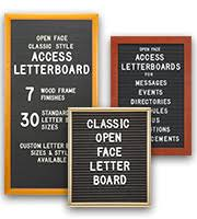 Open Face Letter Board Signs | Changeable Letterboard Signs - at ...