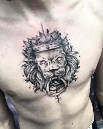 50 фото тату лев для мужчин символ мужества и уверенности