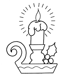 Small Picture Christmas Holiday Candle Coloring Pages Printable Images Kids Aim