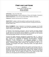 Job Specific Resumes Military Veteran Resume Examples 2019 Resume Templates