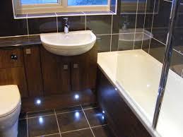 modular bathroom furniture bathrooms. Dark Walnut Fitted Bathroom Furniture With Plinth Lighting Modular Bathrooms
