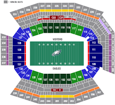 Eagles Seating Chart Eagles Stadium Seating Chart View Www Bedowntowndaytona Com