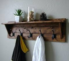 Wall Mounted Coat Rack Shelf Interesting Wall Mounted Coat Hooks With Shelf Coat Racks Stunning Wall Hanging
