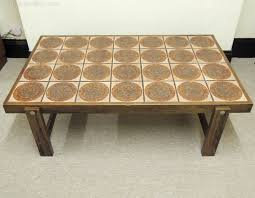 retro danish tile top coffee table