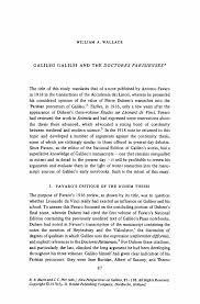 galileo essay galileobiography g galileogalileibiography g galileo galilei essay gxart orggalileo galilei and the doctores parisienses springerinside
