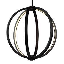 khloe 20 inch led globe pendant by feiss