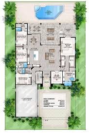 beach house floor plans. Coastal Contemporary Florida Mediterranean House Plan 52911 Level One Beach Floor Plans R