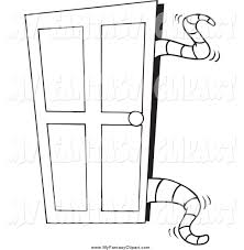 open closet door drawing. Clip Art Of Black And White Tentacles Opening A Closet Door Open Drawing D