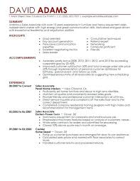 Sales Associate Resume Duties Sample Sale Medium Small Fascinating Sales Associate Resume Skills