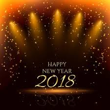 happy new year party background with golden confetti 2018 new year happy png