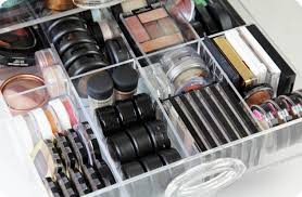 ... drawer dividers. makeup storage with dividers