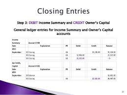 Income Summary Chart Of Accounts Basics Of Accounting Adjusting Entries Financial