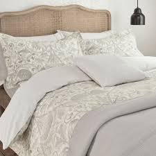 william morris pure lodden super king duvet cover chalk eggshell