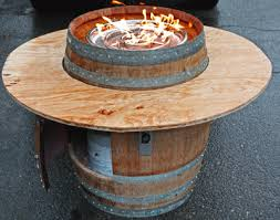 convert a wine barrel into safe outdoor firepit diy propane fire within build your own pit