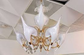 beautiful murano calla lily chandelier by franco luce for 5
