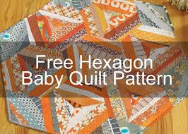 3 Free Stash-Busting, String Quilt Patterns - The Quilting Company & Hexagon Baby Quilt by Malka Dubrawsky Adamdwight.com