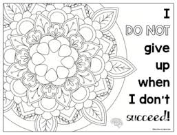 Growth Mindset Coloring Pages Affirmations For Intermediate Grades