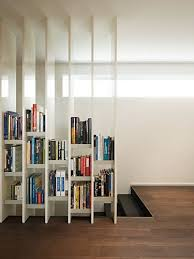 Furniture, Appealing Bookcase As Room Divder From Floor To Ceiling White  Terrific Design Partition: Interesting Useful Open Bookshelf Room D.