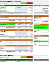 Microsoft Excel Bi Weekly Budget Template Bi Weekly Budget Template