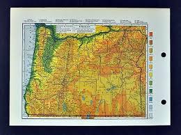 1909 George Cram Map Oregon Salem Eugene Portland