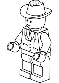 Lego Man In Cowboy Hat Coloring Page Claude Lego Coloring Lego