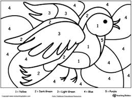 Small Picture Color By Number Bird Free coloring Worksheets and Learning