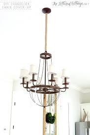 chandelier chain cover up the lettered cottage light fixture pull repair dining room update twine