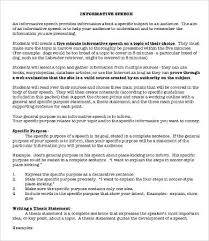 informative essay samples examples format  informative speech essay sample