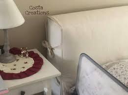 Cuscini testiera letto con lacci. Copri Testata Letto Matrimoniale
