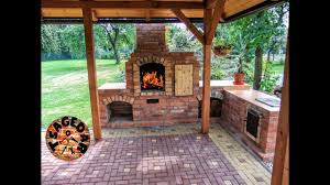 diy building outdoor fireplace with smoker and grill bbq