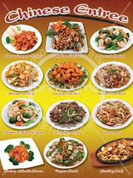 chinese food menu items. Plain Items Chinese Entrees For Food Menu Items E