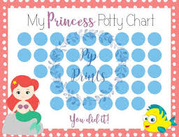 Printable Little Mermaid Potty Training Chart Instant