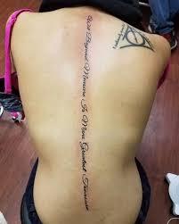 Spine Tattoos Quotes New 48 Spine Tattoo Designs Ideas Design Trends Premium PSD
