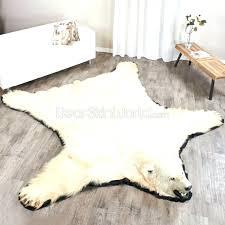 faux skin polar bear rug faux skin faux sheepskin rug ikea faux skin leather