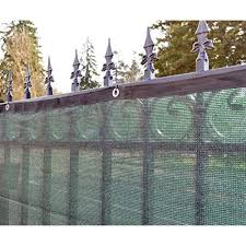 Aleko Privacy Mesh Fabric Screen Fence with Grommets - 4 x 50 Feet - Dark  Green - Walmart.com