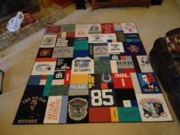 T-Shirt and Jersey Quilts | WandaLandQuilts & Judy's finished quilt Adamdwight.com