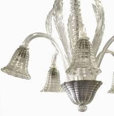 vintage hand blown murano glass chandelier 2