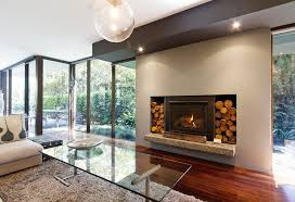 energy efficient fireplaces with open wood design