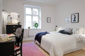 simple apartment bedroom.  Simple White Decorating Ideas And A Touch Of Bright Color Look Very Simple  Contemporary Attractive To Simple Apartment Bedroom Pinterest